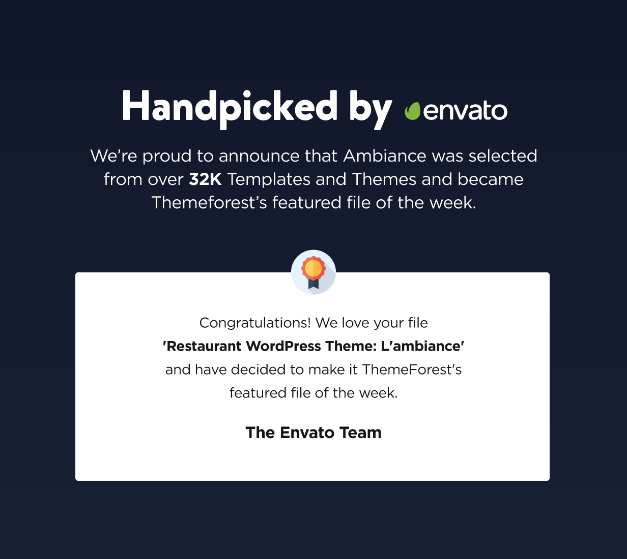 Handpicked by envato